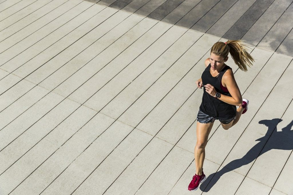 running, woman, fitness